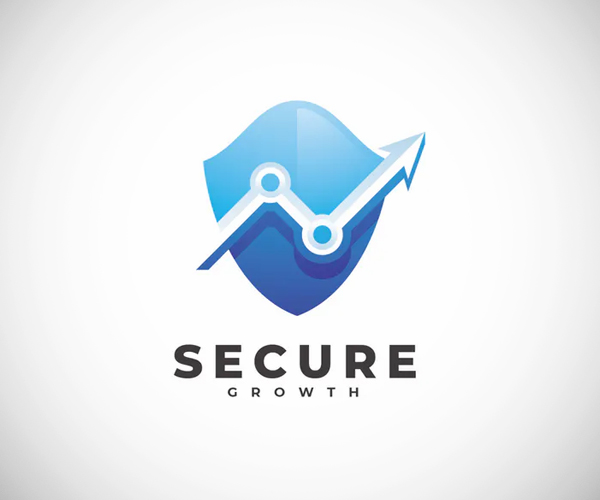 Secure Growth Logo Template