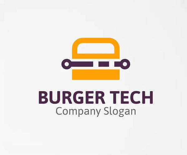 Burger Tech Logo Template