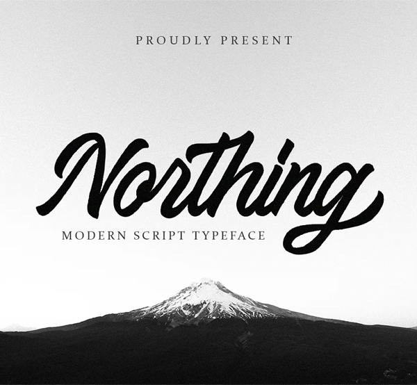 Northing Free Script Font