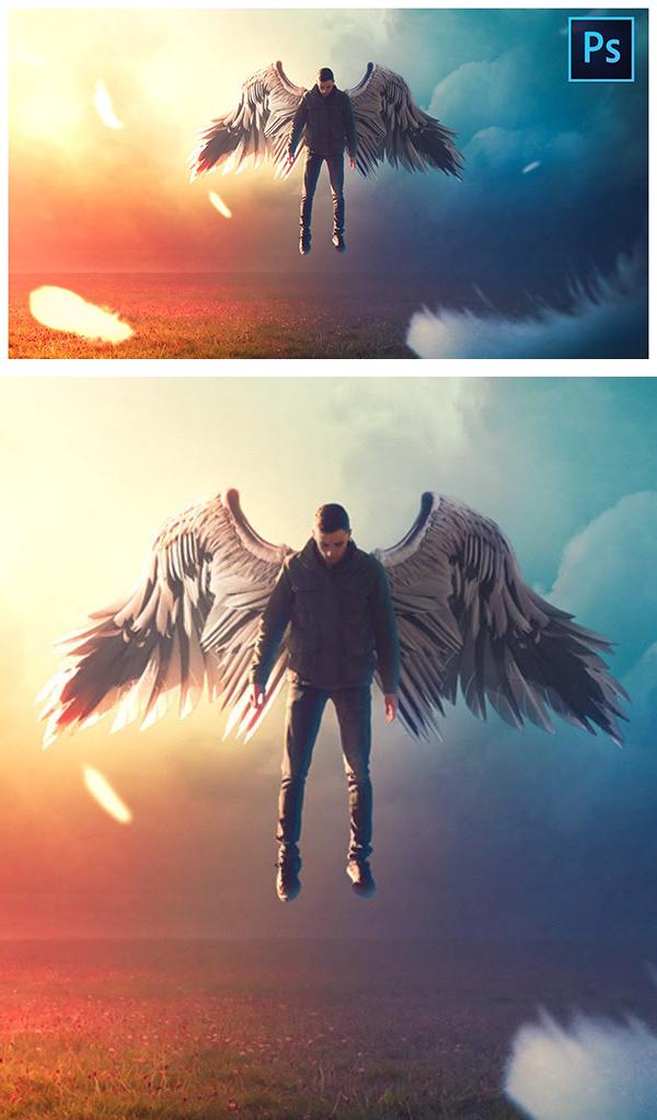 Professional Manipulation Rising Angel Fantasy Editing PS Tutorial