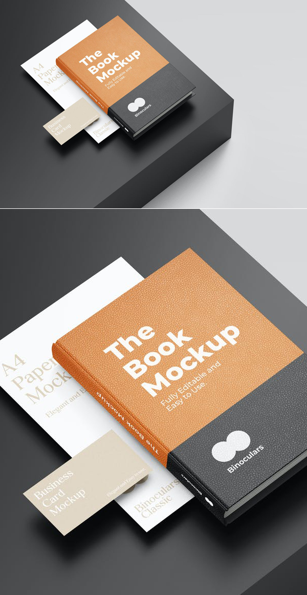 A4 Paper & Business Card Stationery Mockup