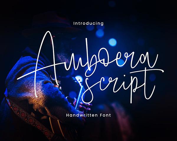 Amboera Script Font