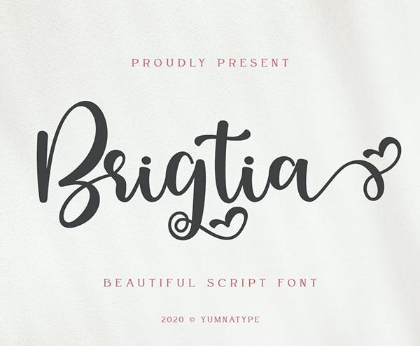 Brigtia Script Font