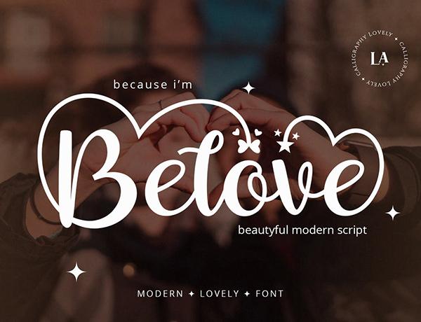 Belove - Script Font