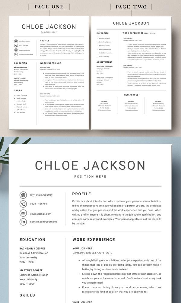 Modern Resume CV Template Design