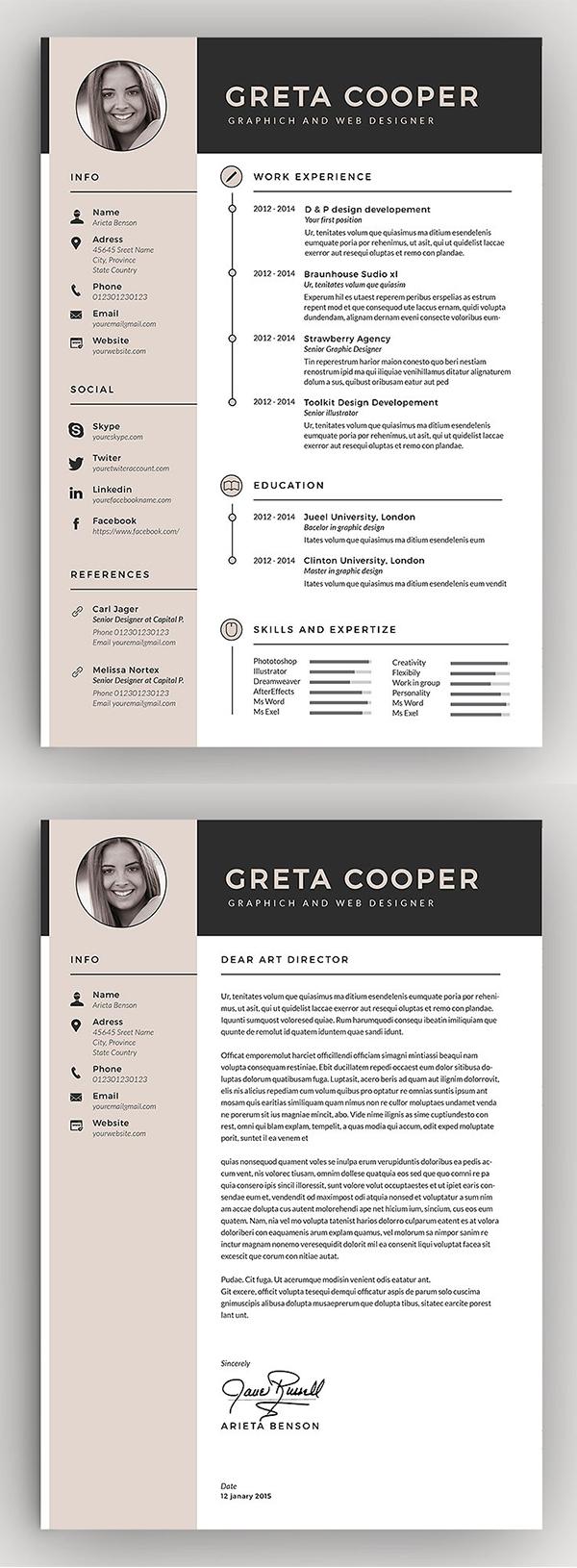 Clean Word Resume / CV