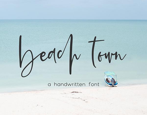 Beach Town Free Script Font