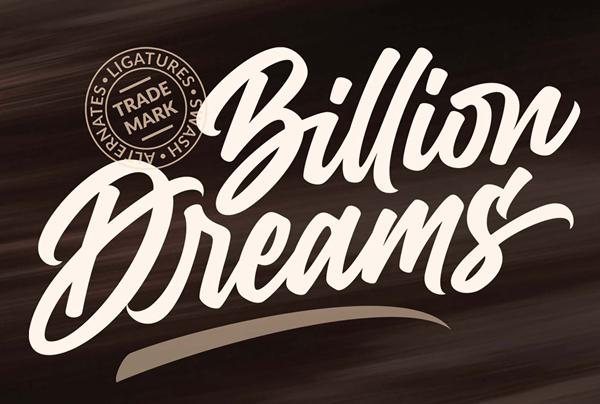 Billion Dreams Free Script Font