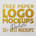 Post Thumbnail of 35+ Best Free Paper Logo Mockups