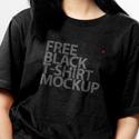 Post thumbnail of Free Black T-Shirt Mockup