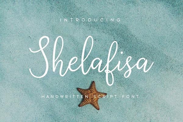 Shelafisa Handwritten Script Font