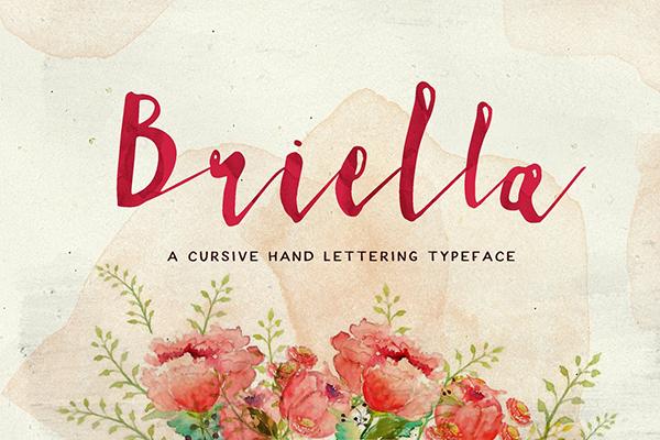 Briella Hand Lettering Font