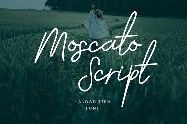 Moscato Script Hand Written Font