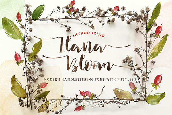 Ilana Bloom Hand-lettering Typeface