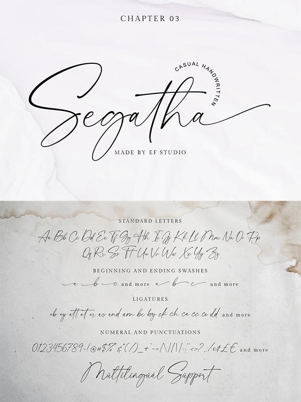 Segatha Casual Handwritten Font