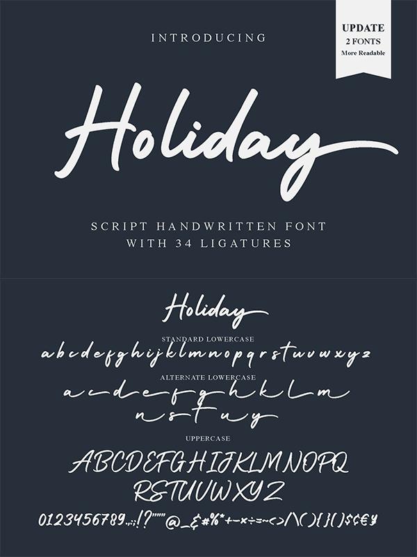 Holiday Script Handwritten Font