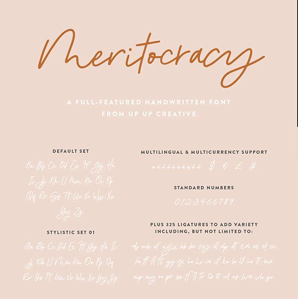Meritocracy Handwritten Font