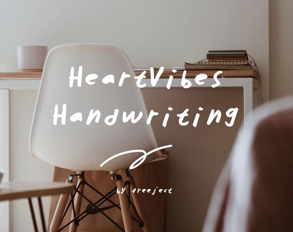HeartVibes Free Handwriting Script Font