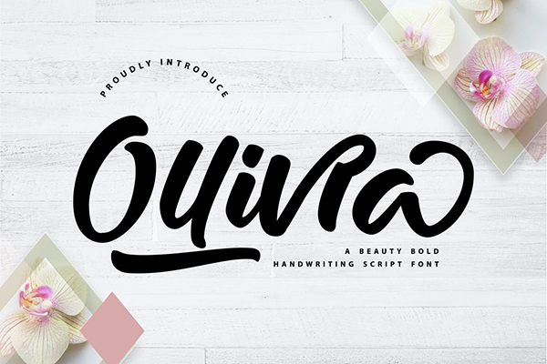 Ollivia Handwriting Script Font