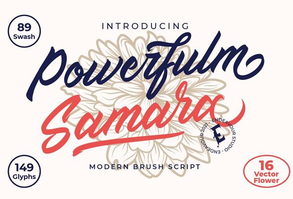 Powerfulm Samara Free Brush Script Font