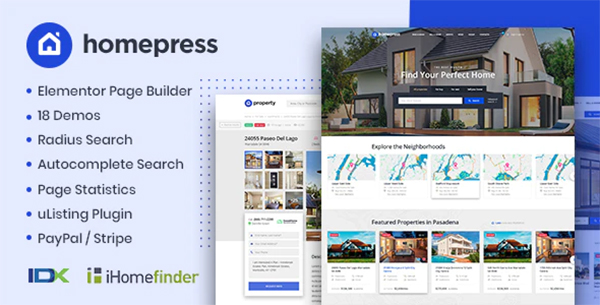 Real Estate WP Theme - HomePress