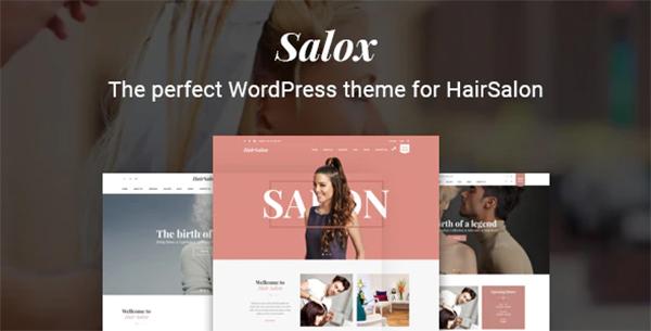 Salox   Hair Salon WordPress Theme