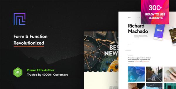 Revolution - Creative Multipurpose WordPress Theme
