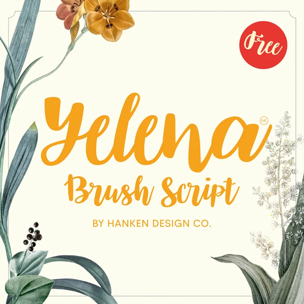 Yelena Brush Free Script Font