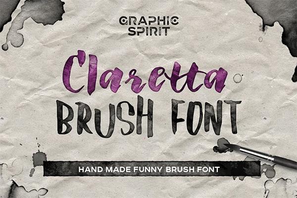 Claretta Brush Ink Free Font