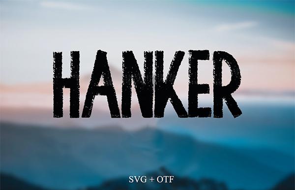 Hanker Brush Free Font