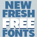 Post thumbnail of New Fresh Free Fonts (18 Fonts)
