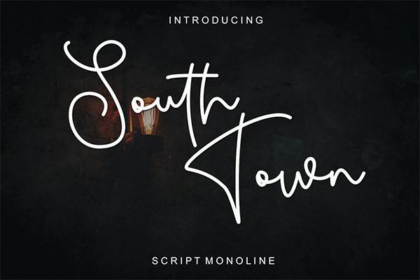 South Town Free Script Font