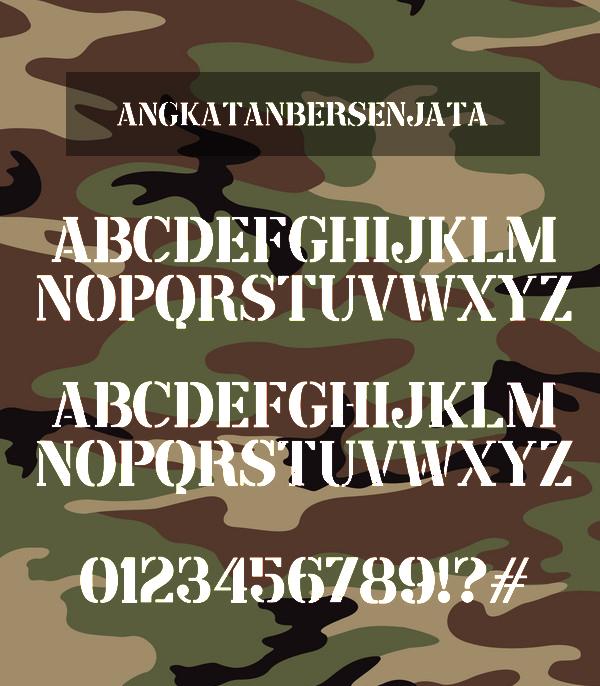 Angkatan Bersenjata Font