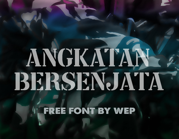Angkatan Bersenjata Free Font