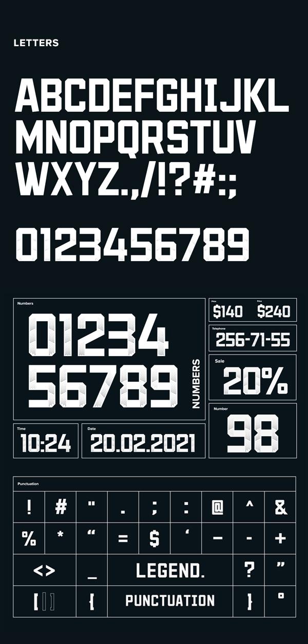LEGEND Sans Serif Font