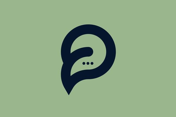 P letter mark logo (placechat) by Sazzad Hossain onu