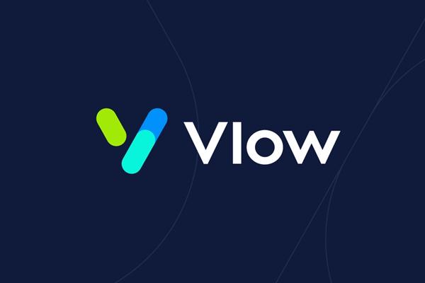 Vlow Logo Desing by Deividas Bielskis