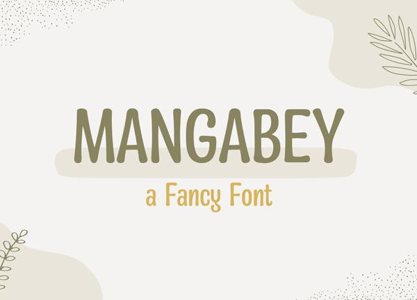 Mangabey Free Font
