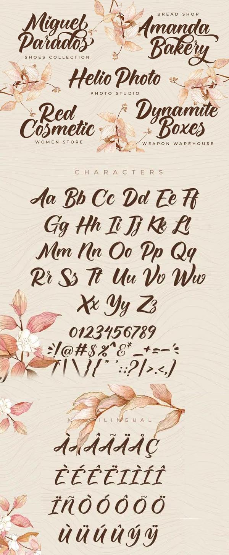 Monicha Script Font