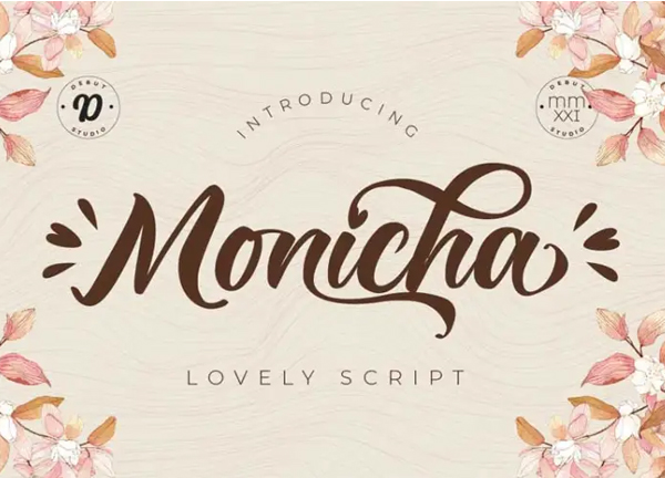 Monicha Script Free Font