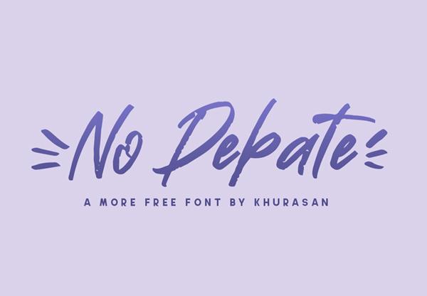 No Debate Free Font