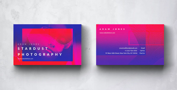 Stardust Photography Business Card Design