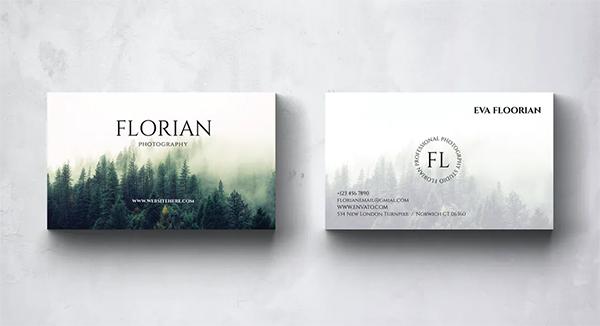 Florian Photography Business Card Design