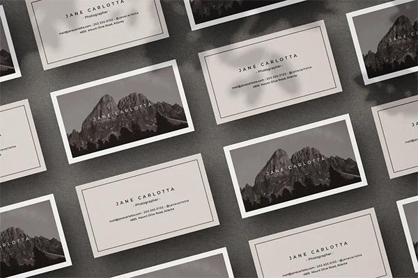 Elegant Photography Business Card