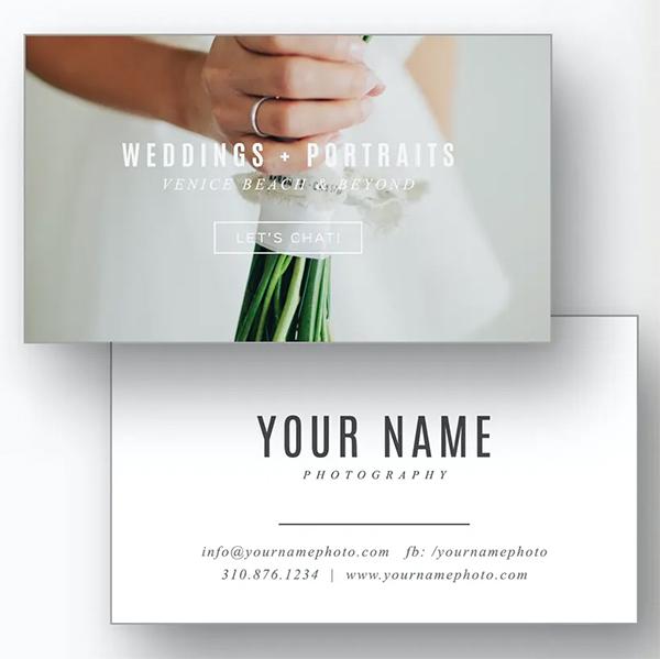Best Modern Photographer Business Card