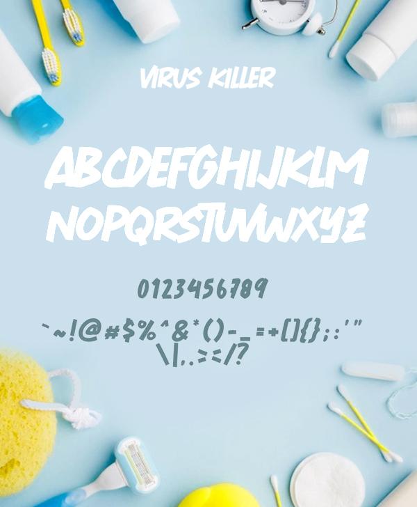 Virus Killer Font