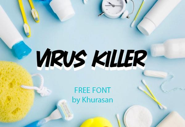 Virus Killer Free Font