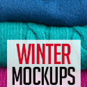 Post Thumbnail of 30+ Best Winter Mockups For Apparel Designs